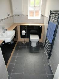 Cloakrooms Gloss Black & Oak fitted furniture