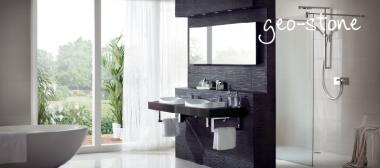 Space Saving Geo-Stone and Geo-Strata Bathroom Furniture