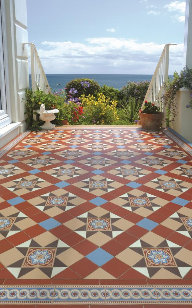 Victorian floor tiles floor range bathrooms wilton for Spanish style floor tiles